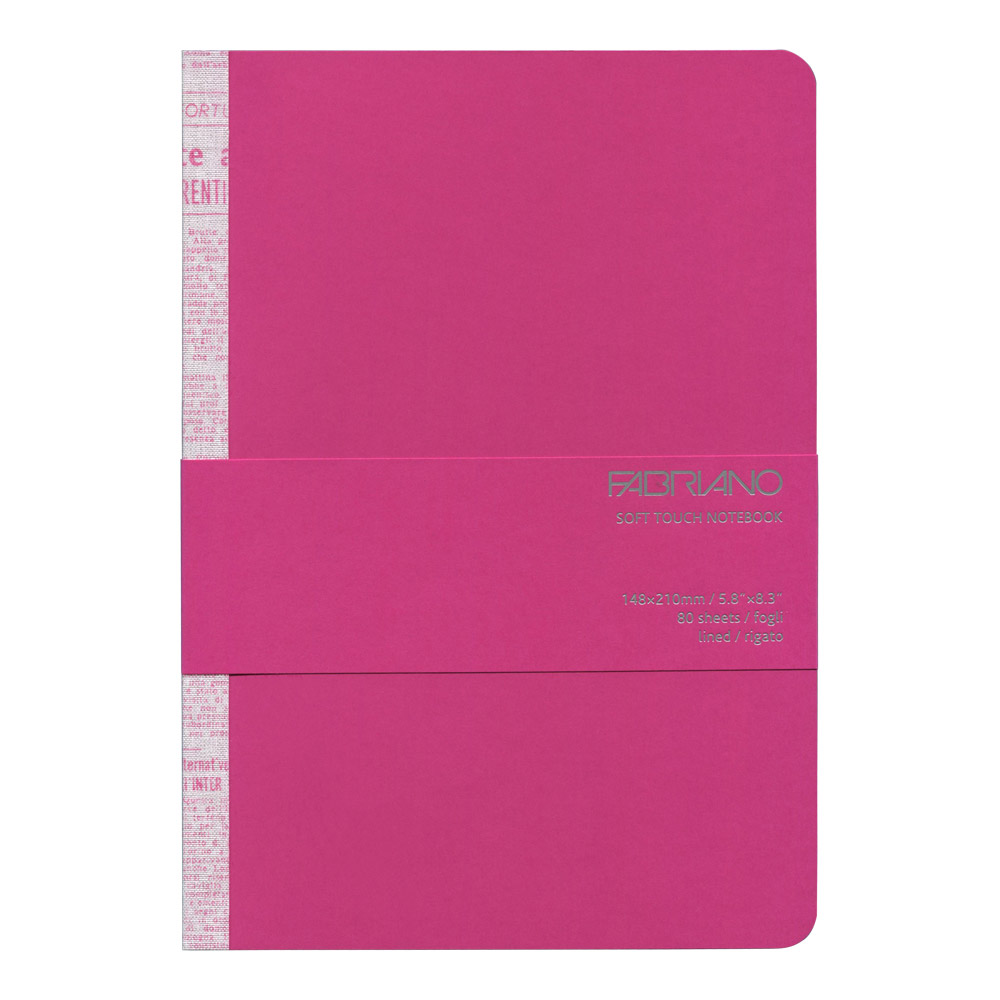 Fabriano Soft Touch Notebook A5 Fuchsia