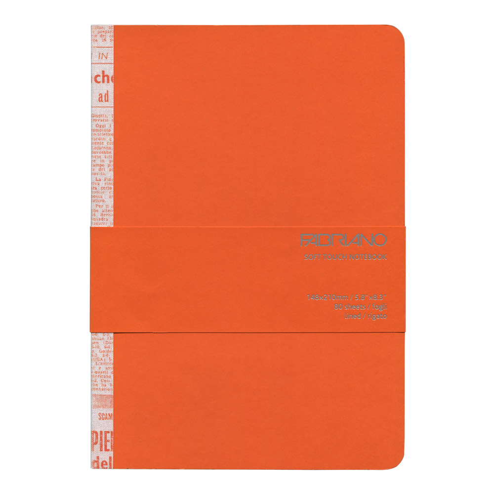 Fabriano Soft Touch Notebook A5 Orange