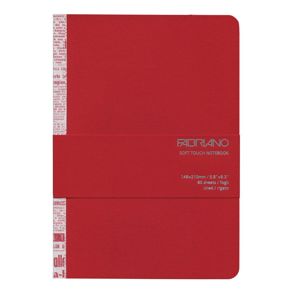 Fabriano Soft Touch Notebook A5 Red