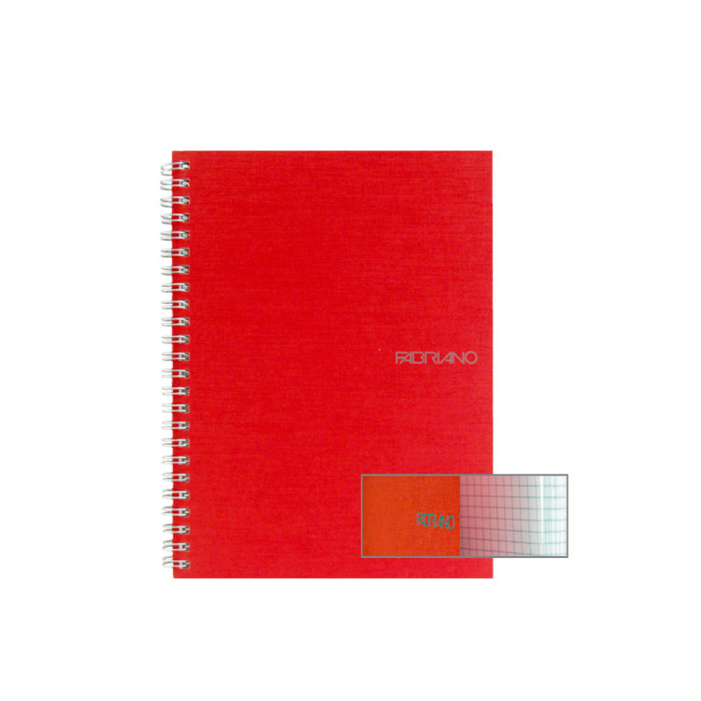 Ecoqua Spiral Notebook 5.8X8.25 Raspberry