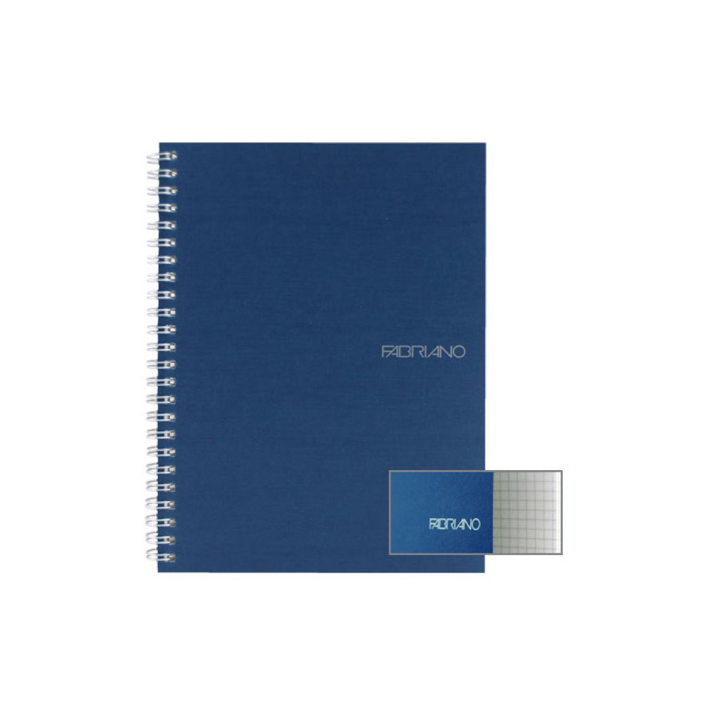 Ecoqua Spiral Notebook 5.8X8.25 Navy