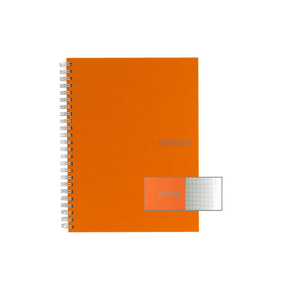 Ecoqua Spiral Notebook 5.8X8.25 Orange