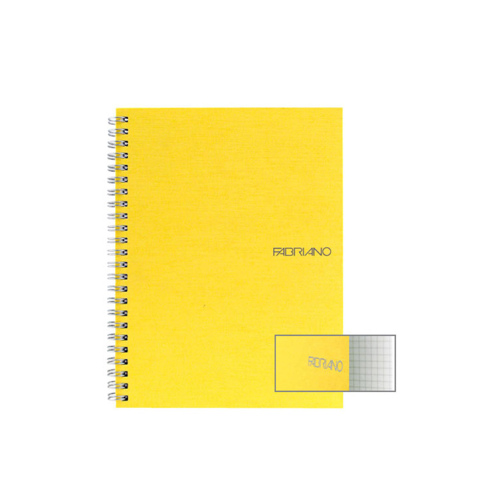 Ecoqua Spiral Notebook 5.8X8.25 Lemon