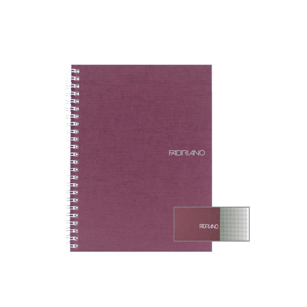 Ecoqua Spiral Notebook 5.8X8.25 Wine