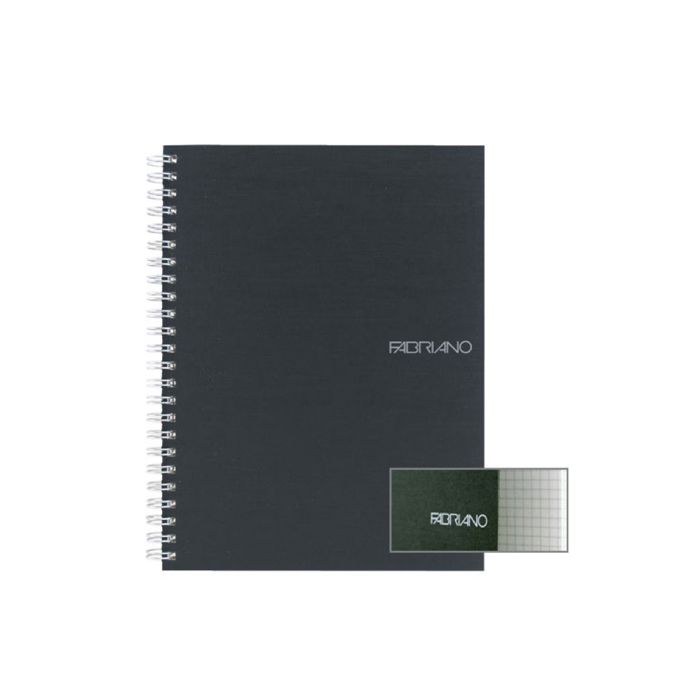 Ecoqua Spiral Notebook 5.8X8.25 Black
