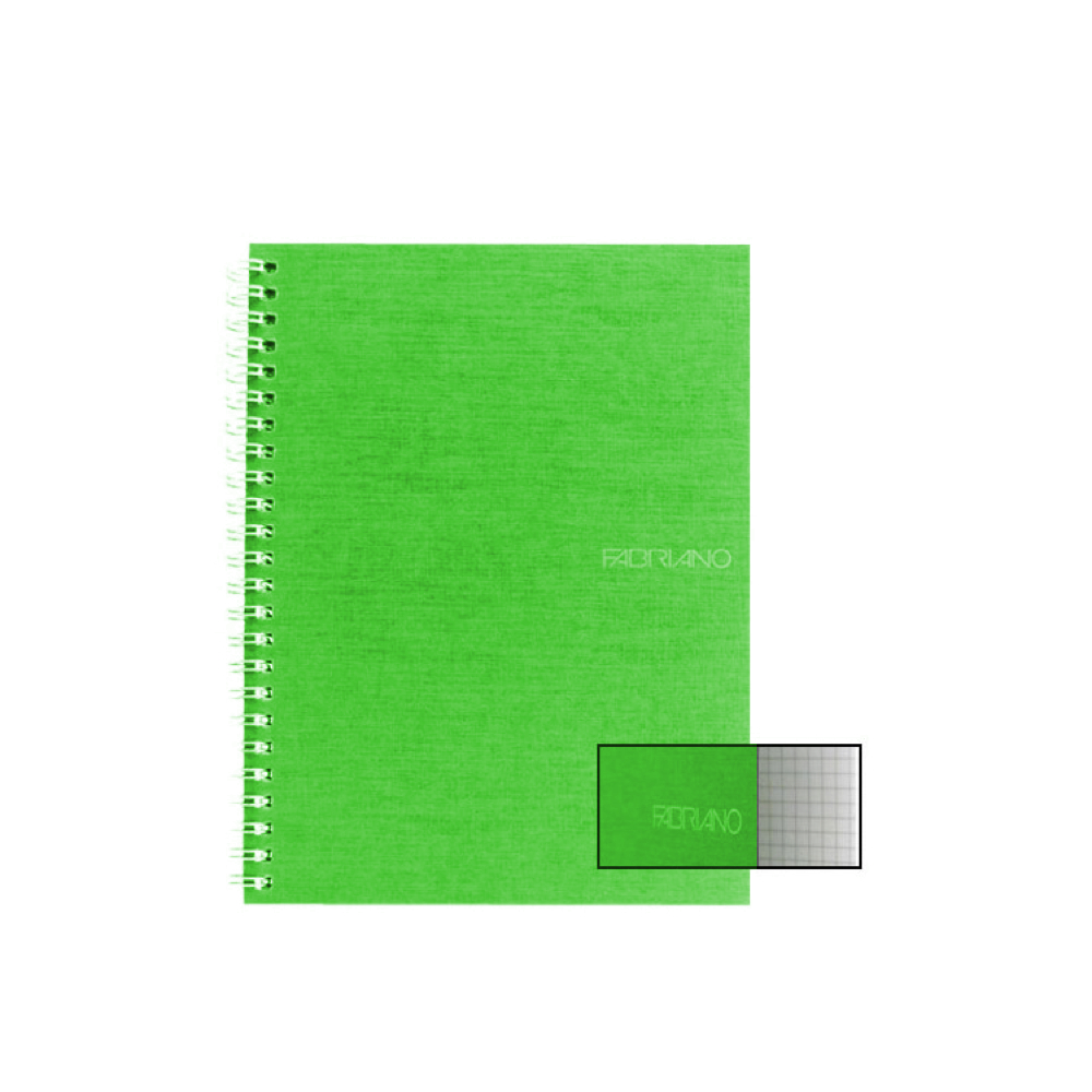 Ecoqua Spiral Notebook 5.8X8.25 Lime