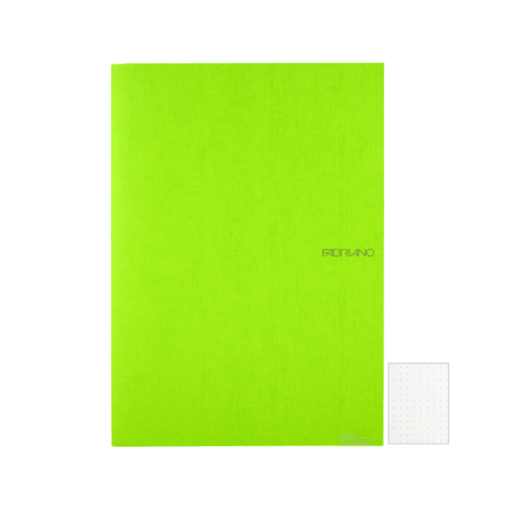 Ecoqua Dot Notebook 8.25X11.7 Lime