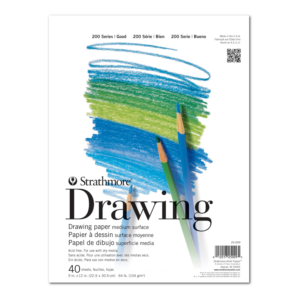 Strathmore 200 Taped Drawing Pad 9X12