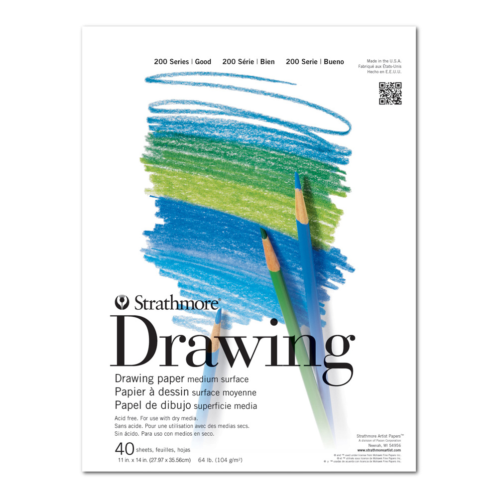 Strathmore 200 Taped Drawing Pad 11X14
