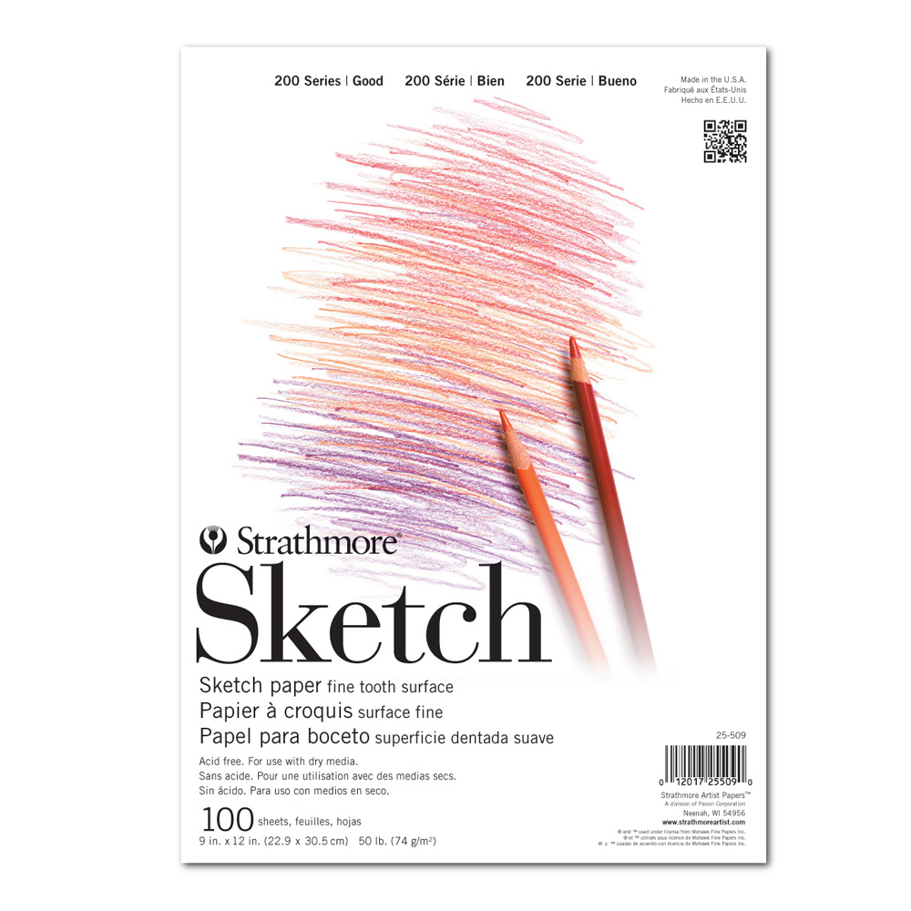 Strathmore 200 Taped Sketch Pad 9X12