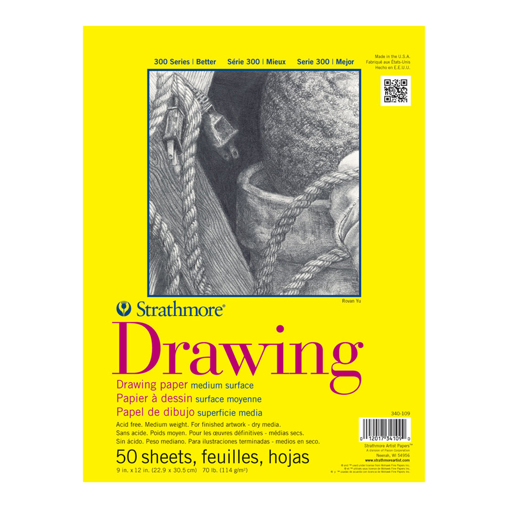 Strathmore 300 Taped Drawing Pad 9X12 50Sh