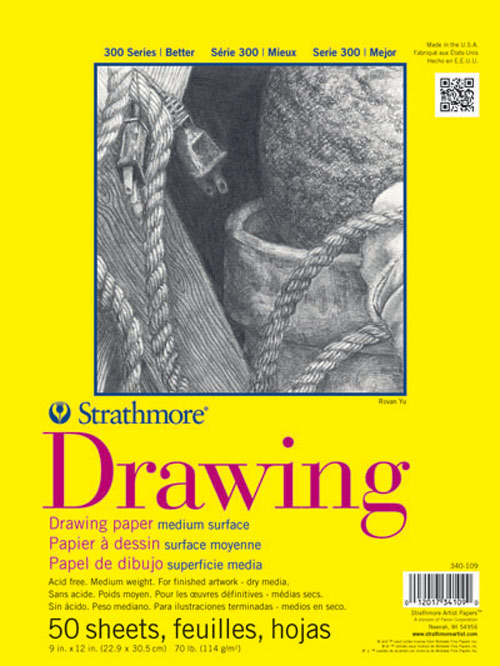 Strathmore 300 Taped Drawing Pad 11X14 50Sh