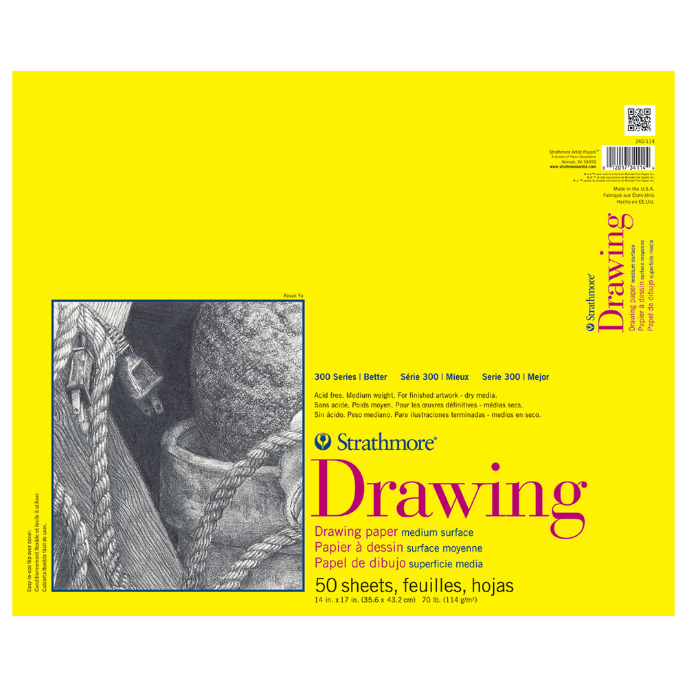 Strathmore 300 Taped Drawing Pad 14X17 50Sh