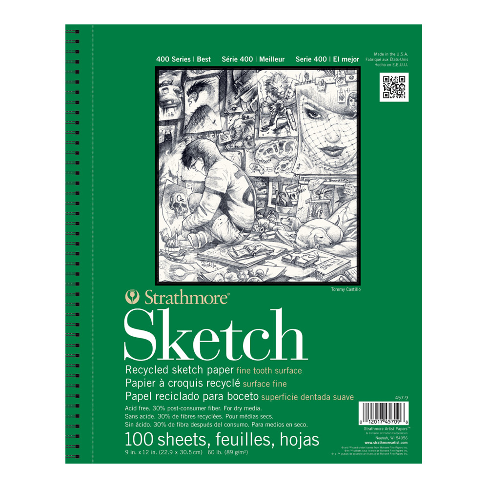 Strathmore 400 Recycled Sketch Pad 9X12