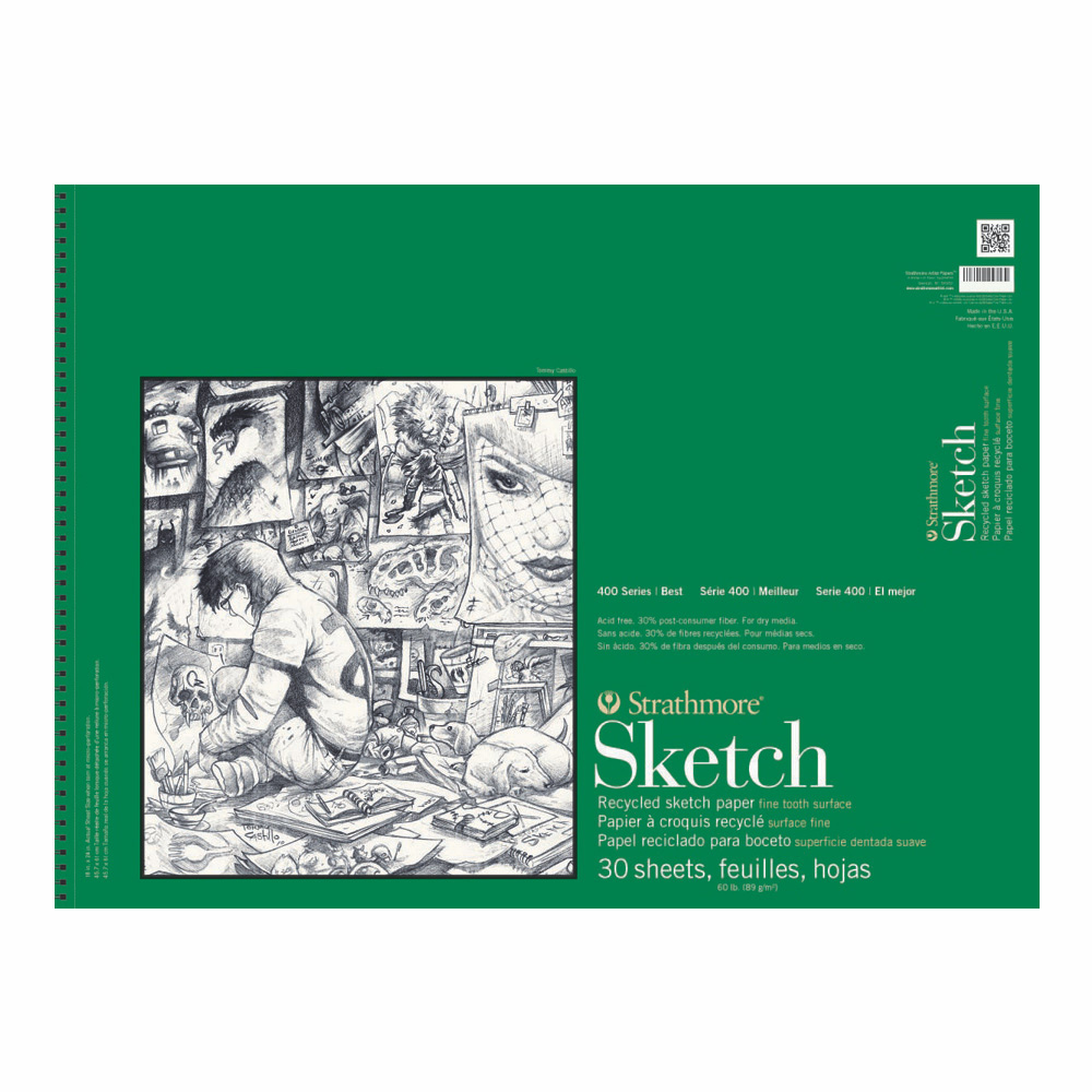 Strathmore 400 Recycled Sketch Pad 14X17