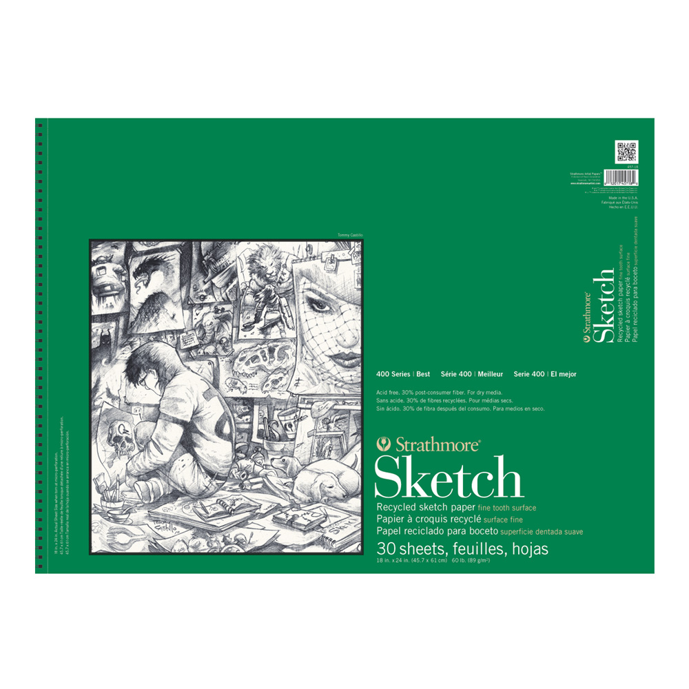 Strathmore 400 Recycled Sketch Pad 18X24