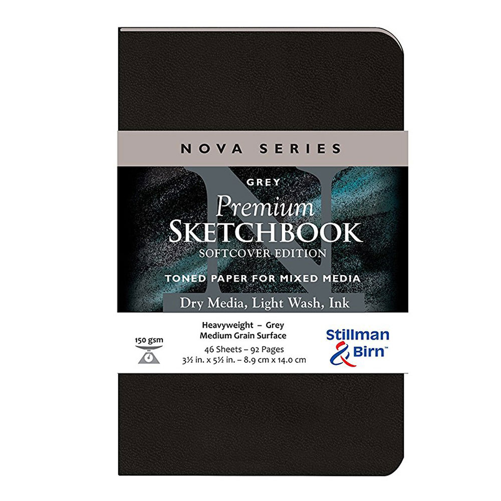 Nova Softcover Sketchbook Grey 3.5x5.5