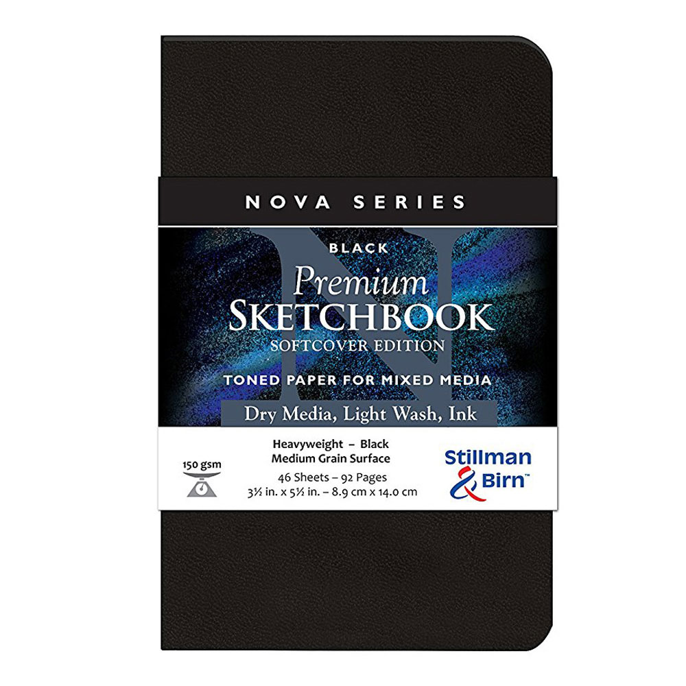 Nova Softcover Sketchbook Black 3.5x5.5