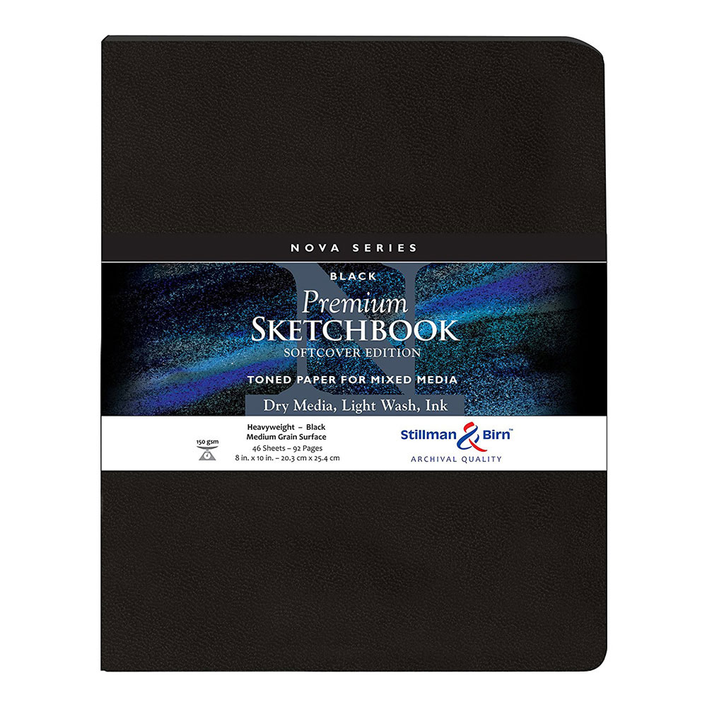 Nova Softcover Sketchbook Black 8x10