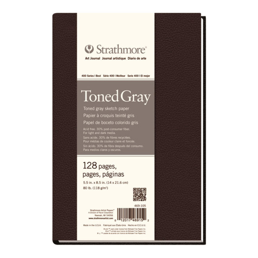 Strathmore Toned Gray Sketch Journal 5.5X8.5