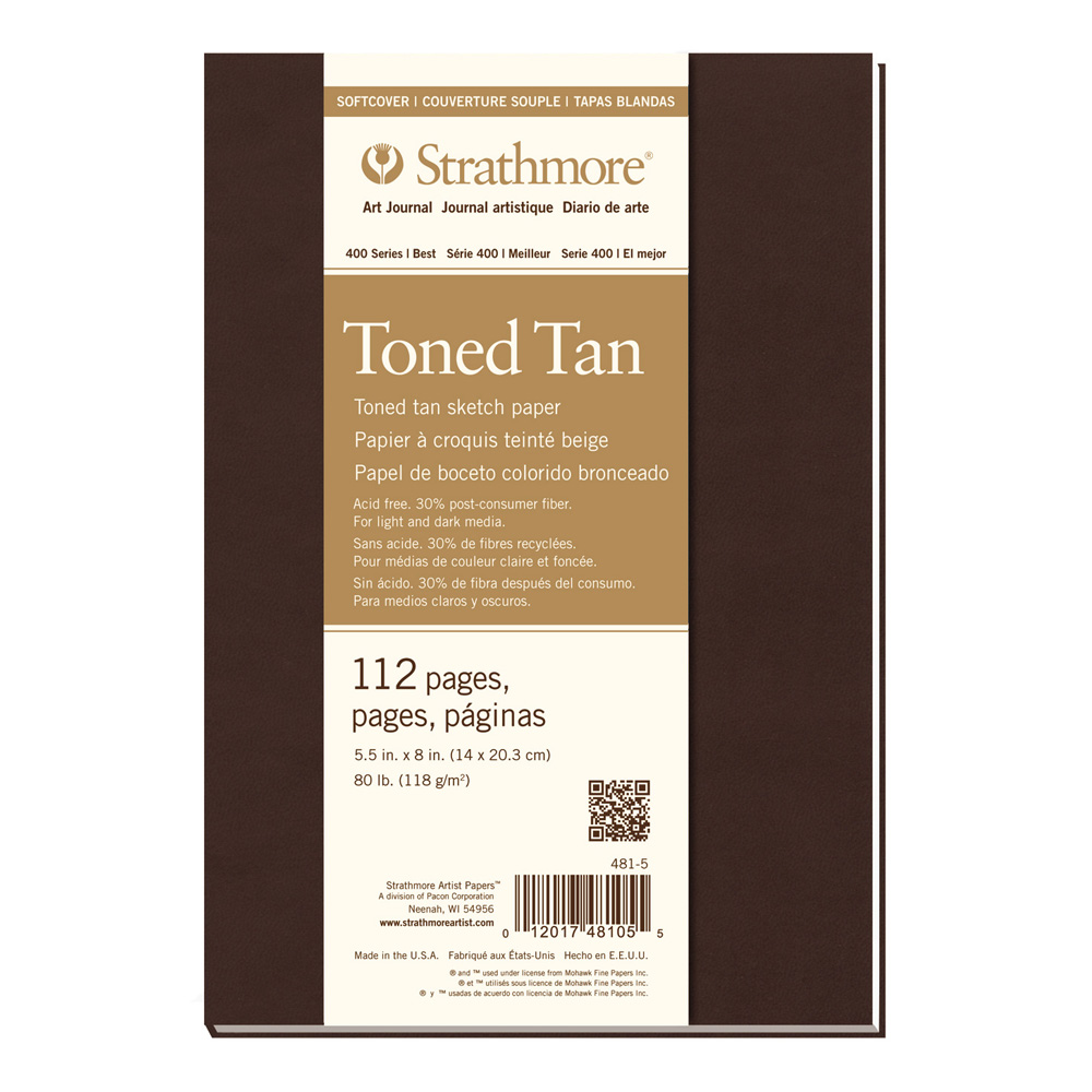 Strathmore 400 Toned Tan Softcover 5.5X8