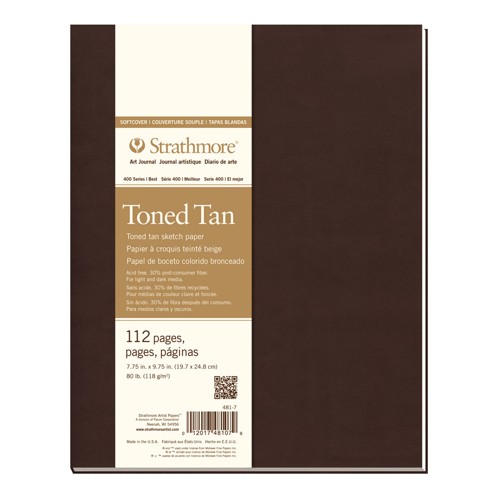 Strathmore 400 Toned Tan Softcover 7.75X9.75