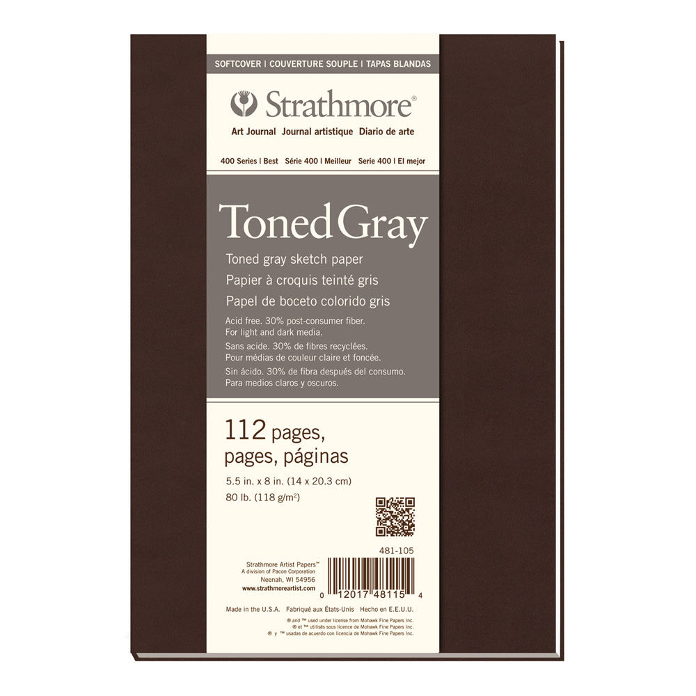 Strathmore 400 Toned Gray Softcover 5.5X8