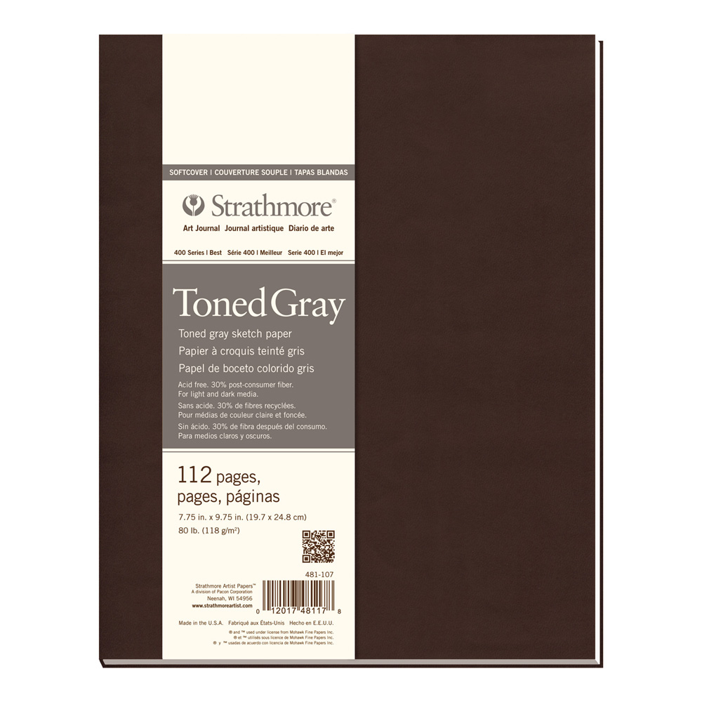 Strathmore 400 Toned Gray Softcover 7.75X9.75