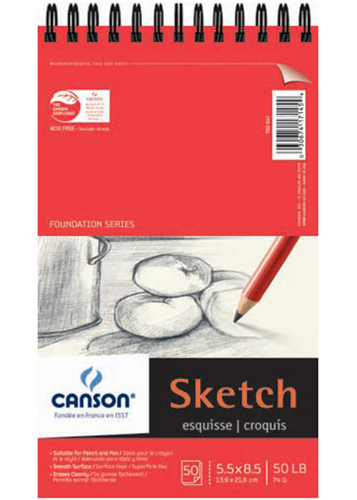 Canson Foundation Sketch Pad 5.5X8.5