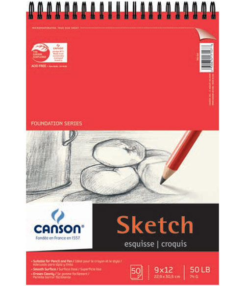 Canson Foundation Sketch Pad 9X12