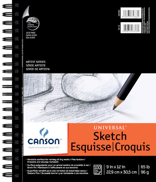 Canson Universal Sketch Pad 9X12 6 Pack