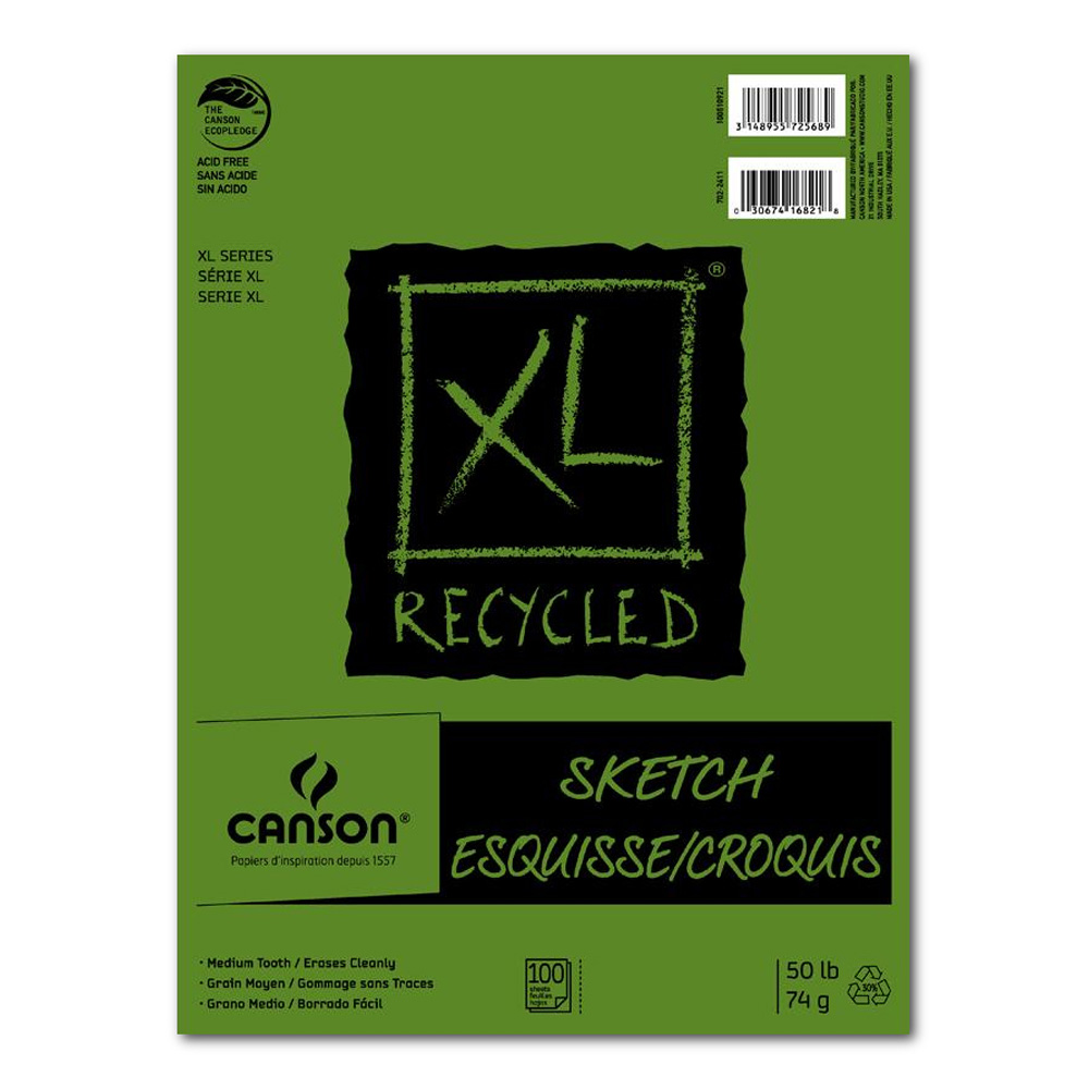 Canson Xl Recycled Sketch Pad 3.5X5.5