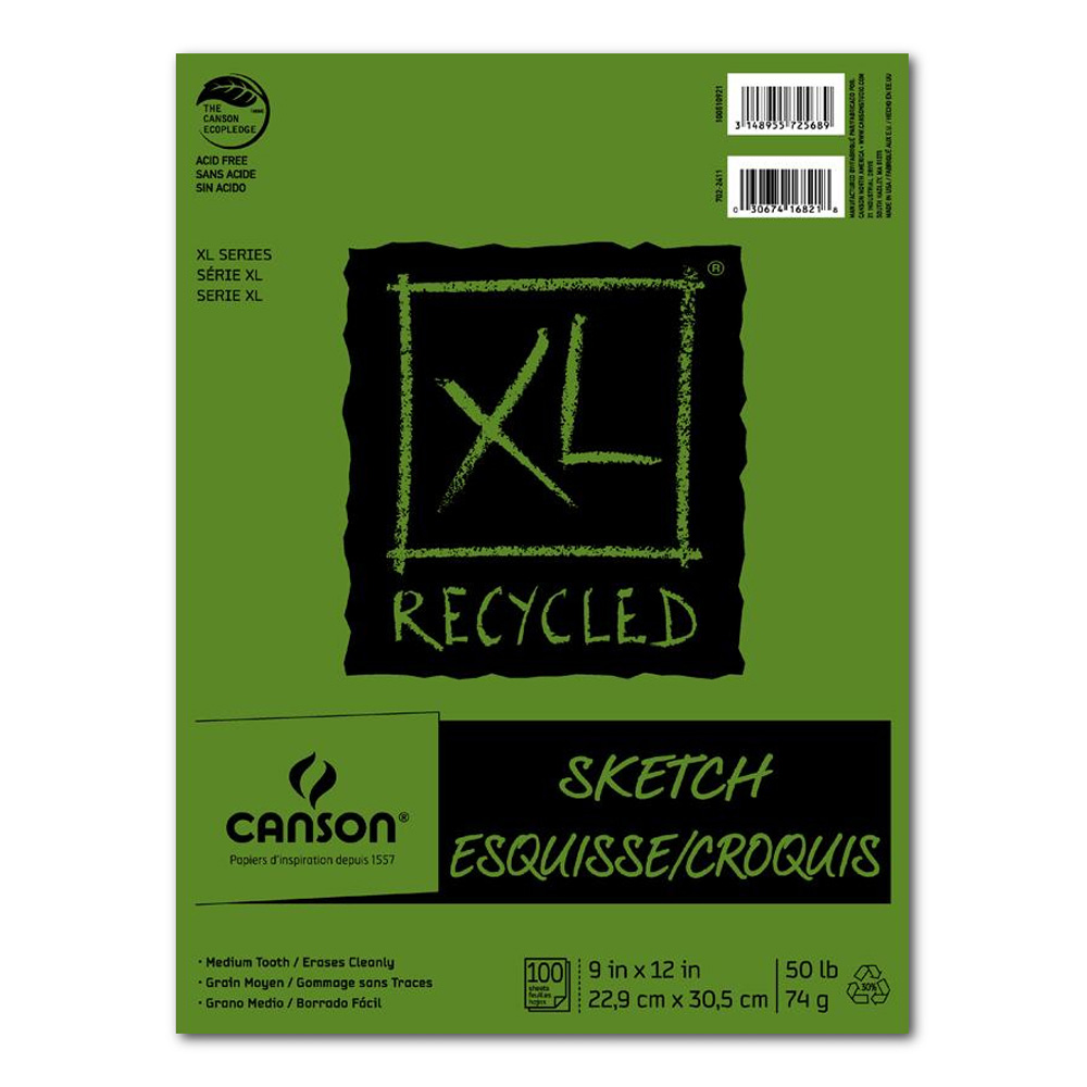 Canson Xl Recycled Sketch Pad 9X12