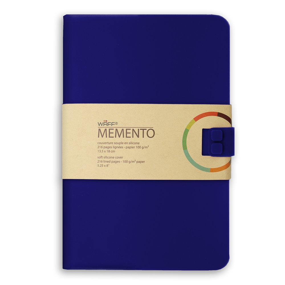 Memento Large Journal Navy Blue 5.75X8.25