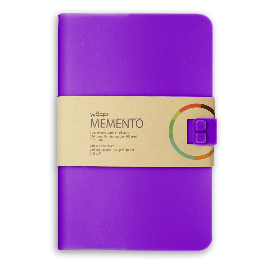 Memento Large Journal Purple 5.75X8.25