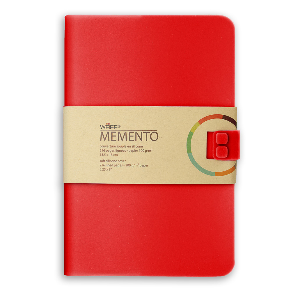 Memento Large Journal Red 5.75X8.25