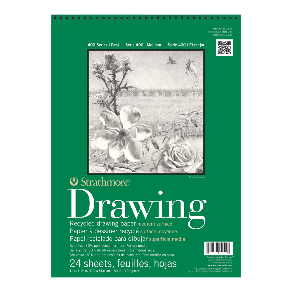 Strathmore 400 Recycled Drawing Pad 11X14