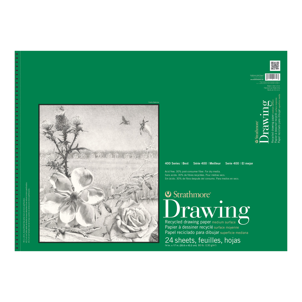 Strathmore 400 Recycled Drawing Pad 14X17