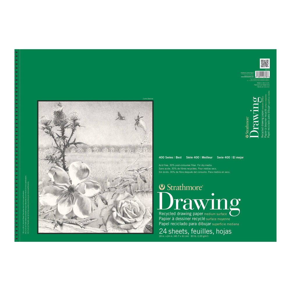 Strathmore 400 Recycled Drawing Pad 18X24