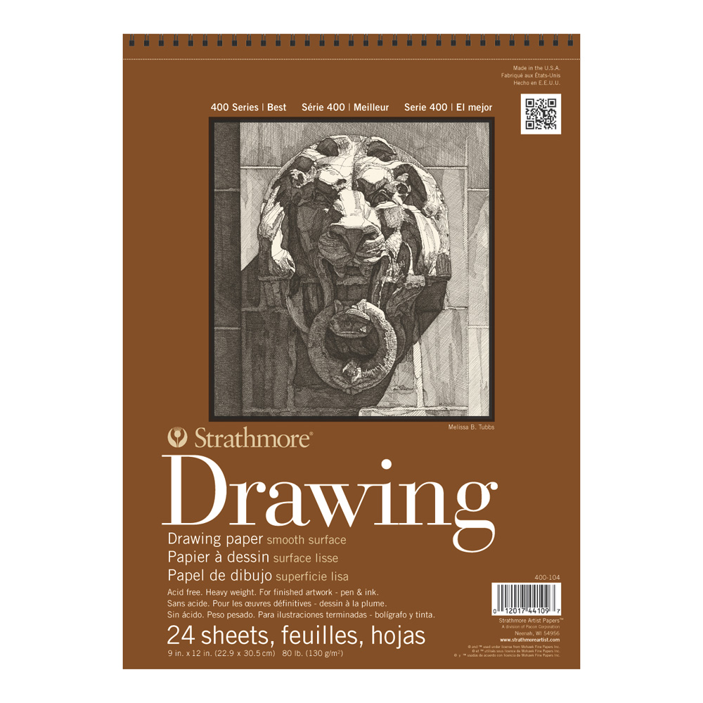 Strathmore 400 Drawing Pad Smooth 9X12