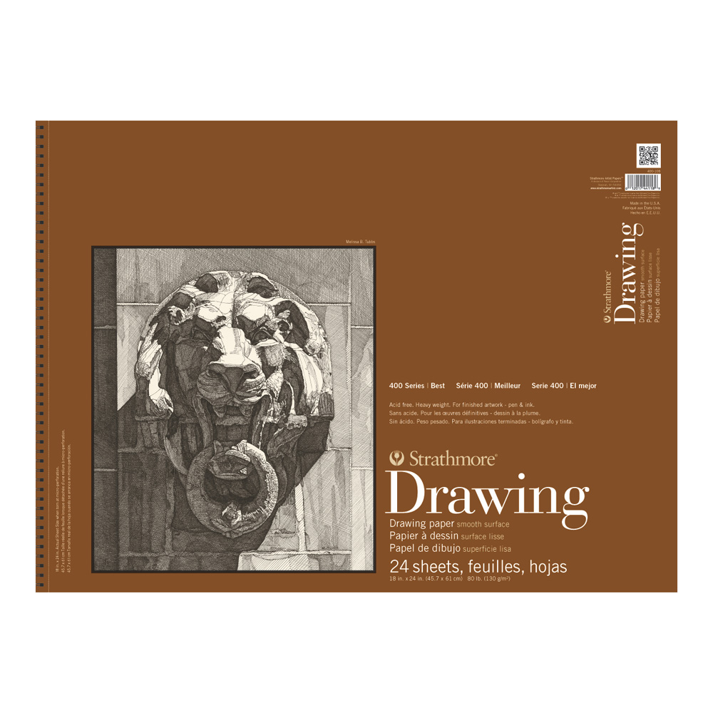 Strathmore 400 Drawing Pad Smooth 18X24
