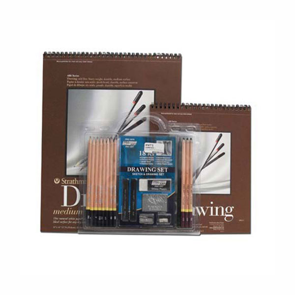 Hyatts Sketching Set: 18-Pieces & 2 Pads