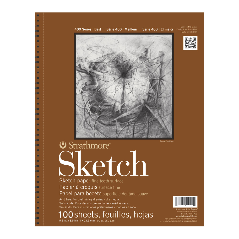 strathmore paper Create tonal sketches in dark & light working from a middle ground strathmore 400 series toned sketch paper pads are acid free sketch paper in gray or tan, 80 lb.