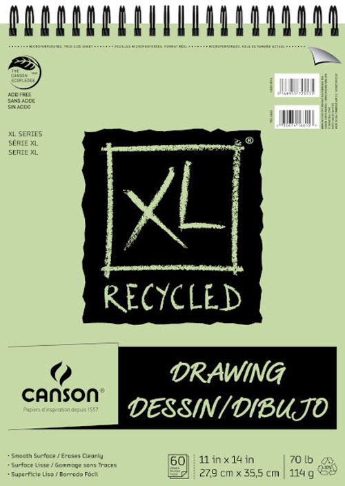 Canson Xl Recycled Drawing Pad 11X14