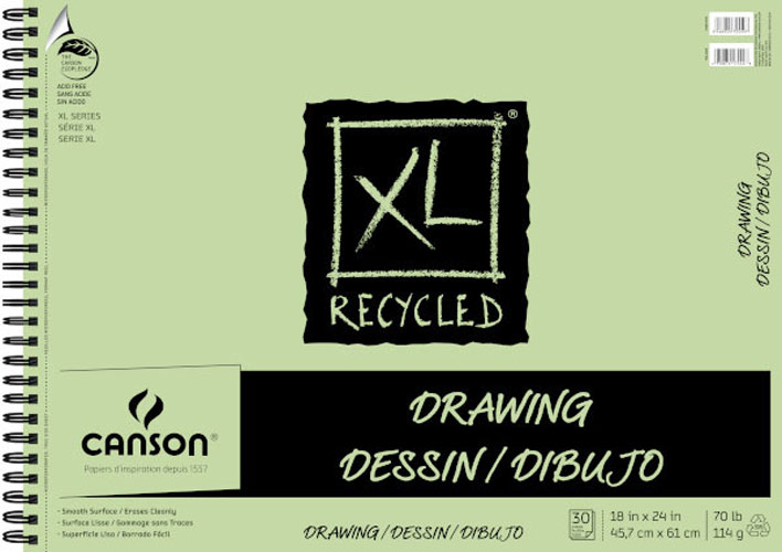 Canson Xl Recycled Drawing Pad 18X24 30Sht