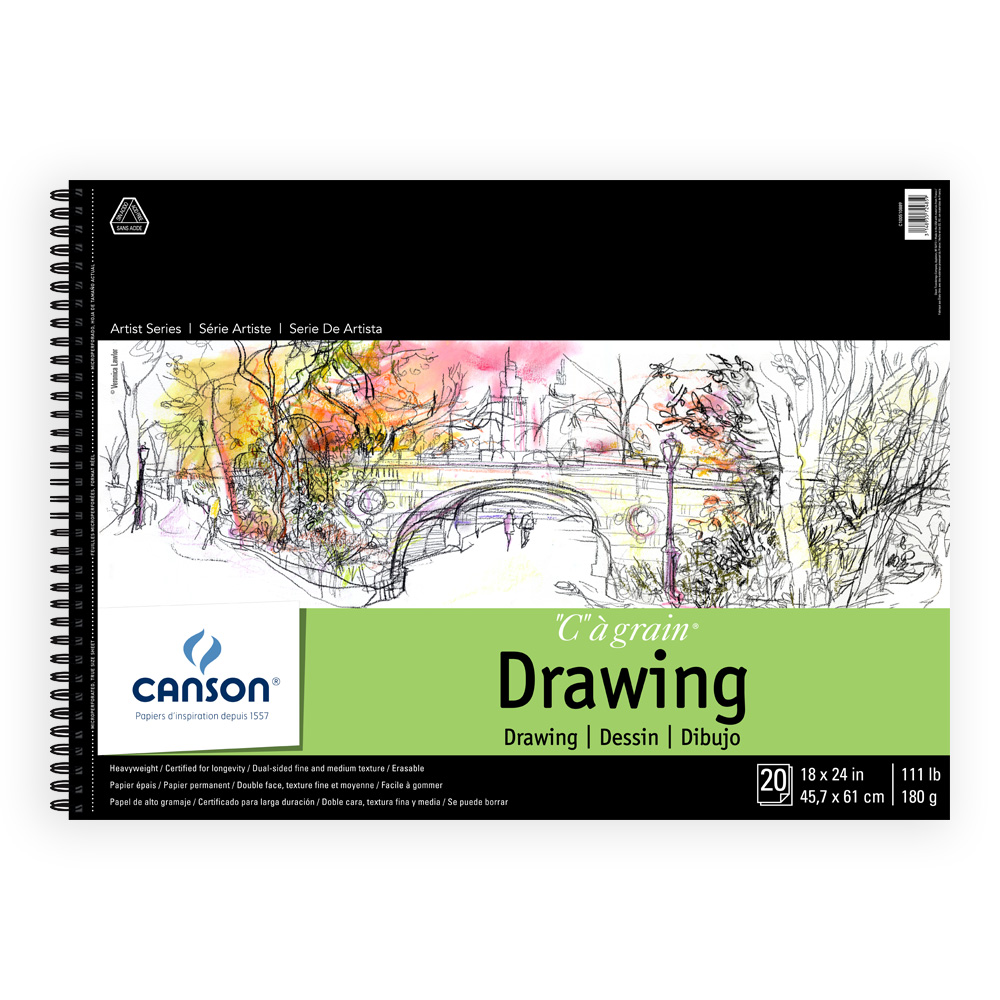 C'a Grain Drawing Pad 18X24 20/Sheets