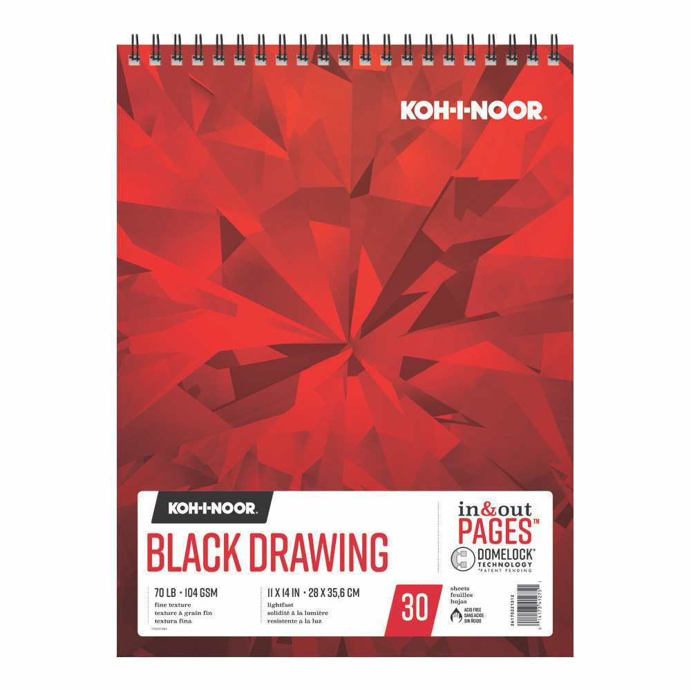 Koh-I-Noor Black Drawing Pad 11X14 30 Sheets