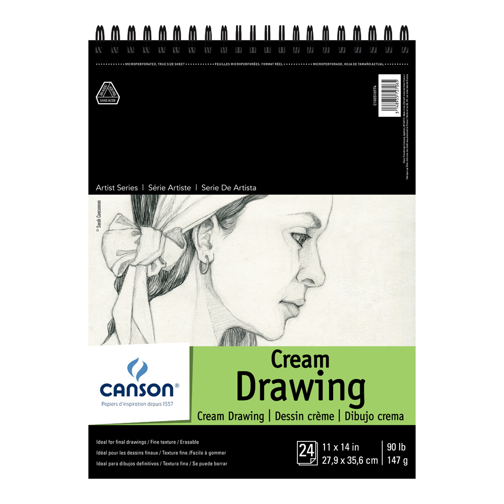 Canson Classic Cream Drawing Pad 11X14