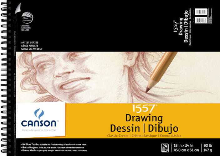 Canson Classic Cream Drawing Pad 18X24