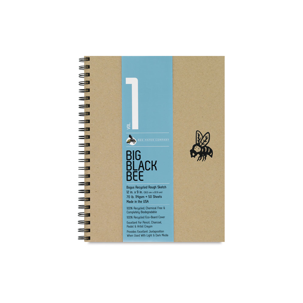 Big Black Bee 12X9 Bogus Recycled Sketch Pad